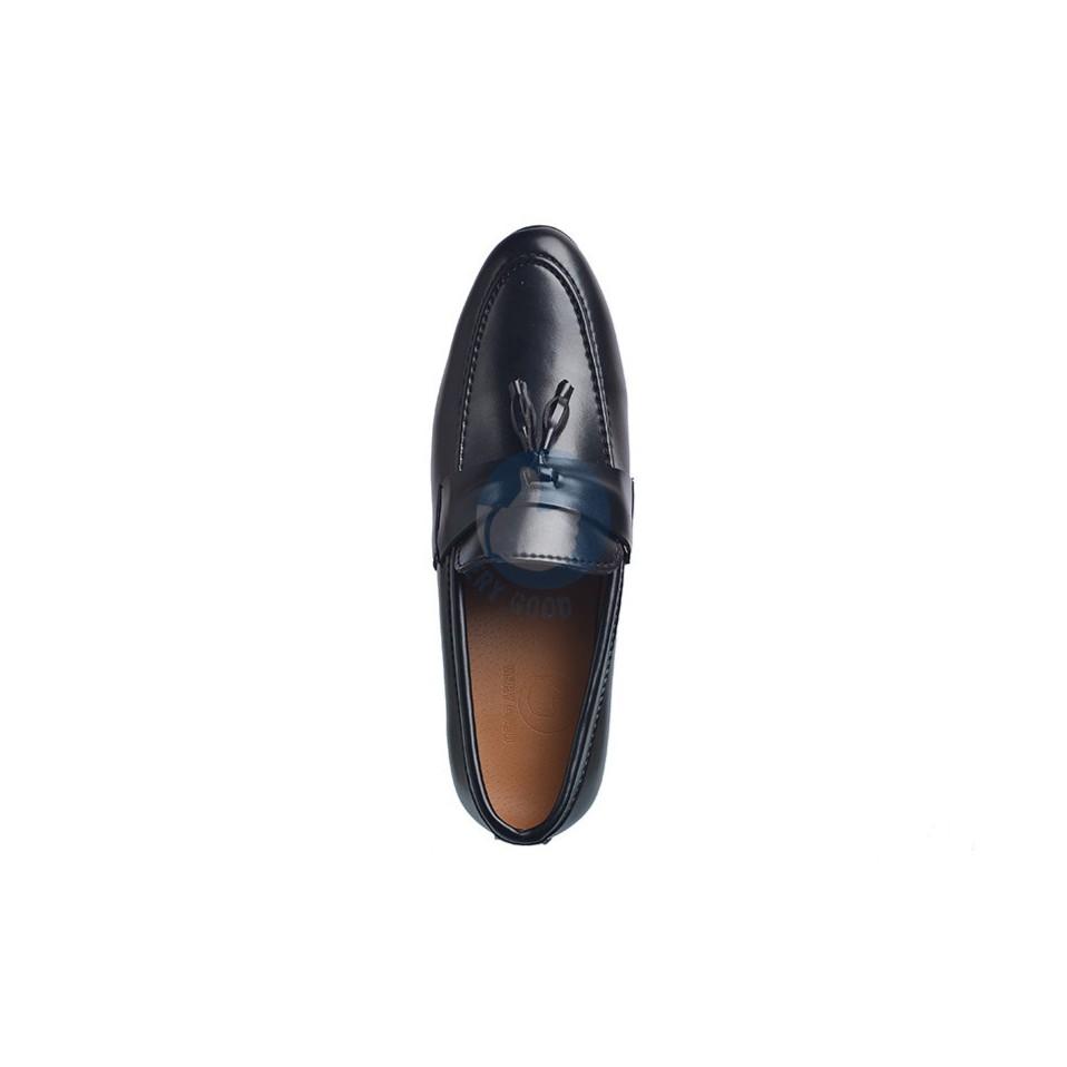 Giày lười nam verygood giày lười dây chuông MS5 ( màu đen)