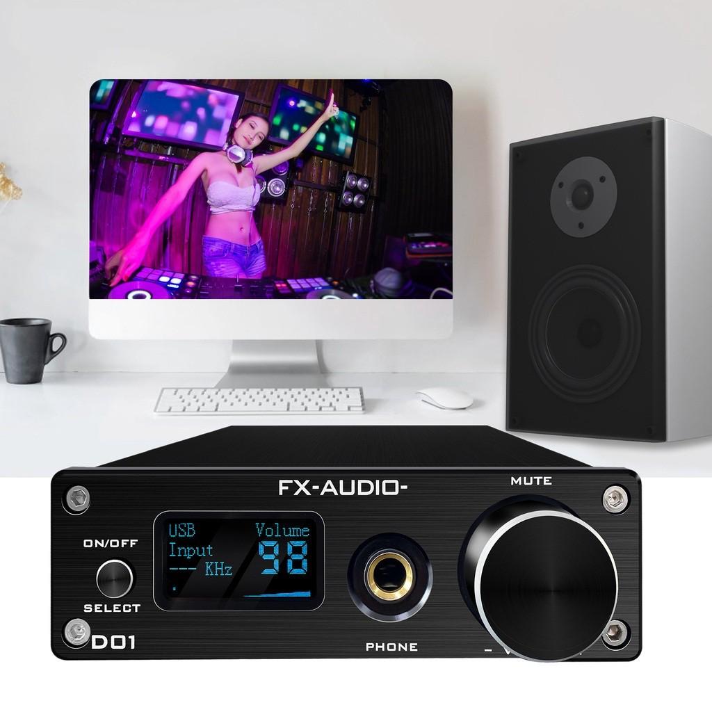 Giải Mã FX-Audio DAC D01 - Bản Nâng Cấp DAC X7- Bộ Giải Mã 32 Bit/768Khz/ DSD512