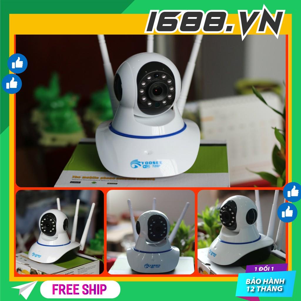 camera wifi Yoosee HD720P, camera wifi 3 anten siêu nét 2020 hỗ trợ thẻ nhớ
