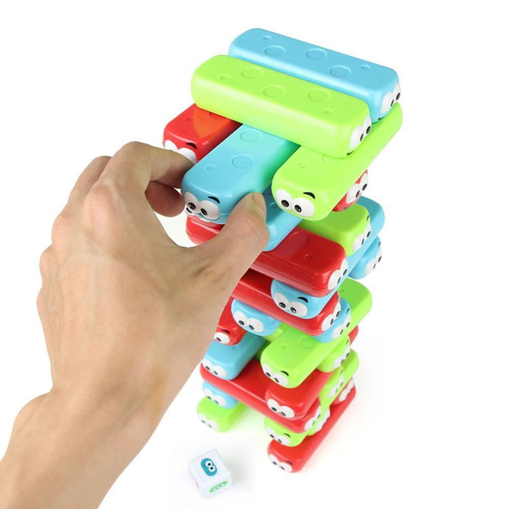 Interactive Wooden Blocks Jenga Party Tumbling Tower Fun Toys for Kids