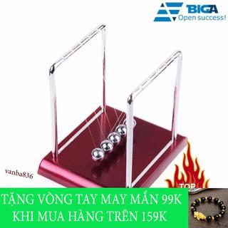 Shop Văn Ba – Con lắc newton đế gỗ khung thép chống rỉ