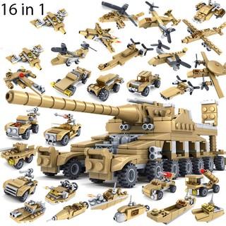 Bộ Lắp Ráp Kiểu Lego Xe Tăng 16 Trong 1 KAZI 600 Mảnh Ghép
