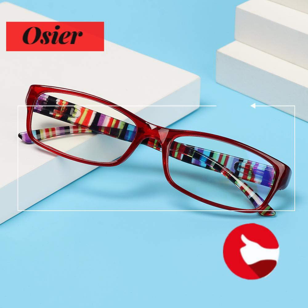 👒OSIER🍂 Women Men Anti-Blue Light Eyeglasses Comfortable Ultra Light Frame Reading Glasses Portable Elegant Fashion Vintage Eye Protection/Multicolor
