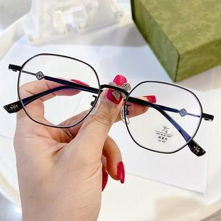 Polygon Frame Glasses Anti-Blue Light Unisex Fashion Accessories Ready StockJZ5508