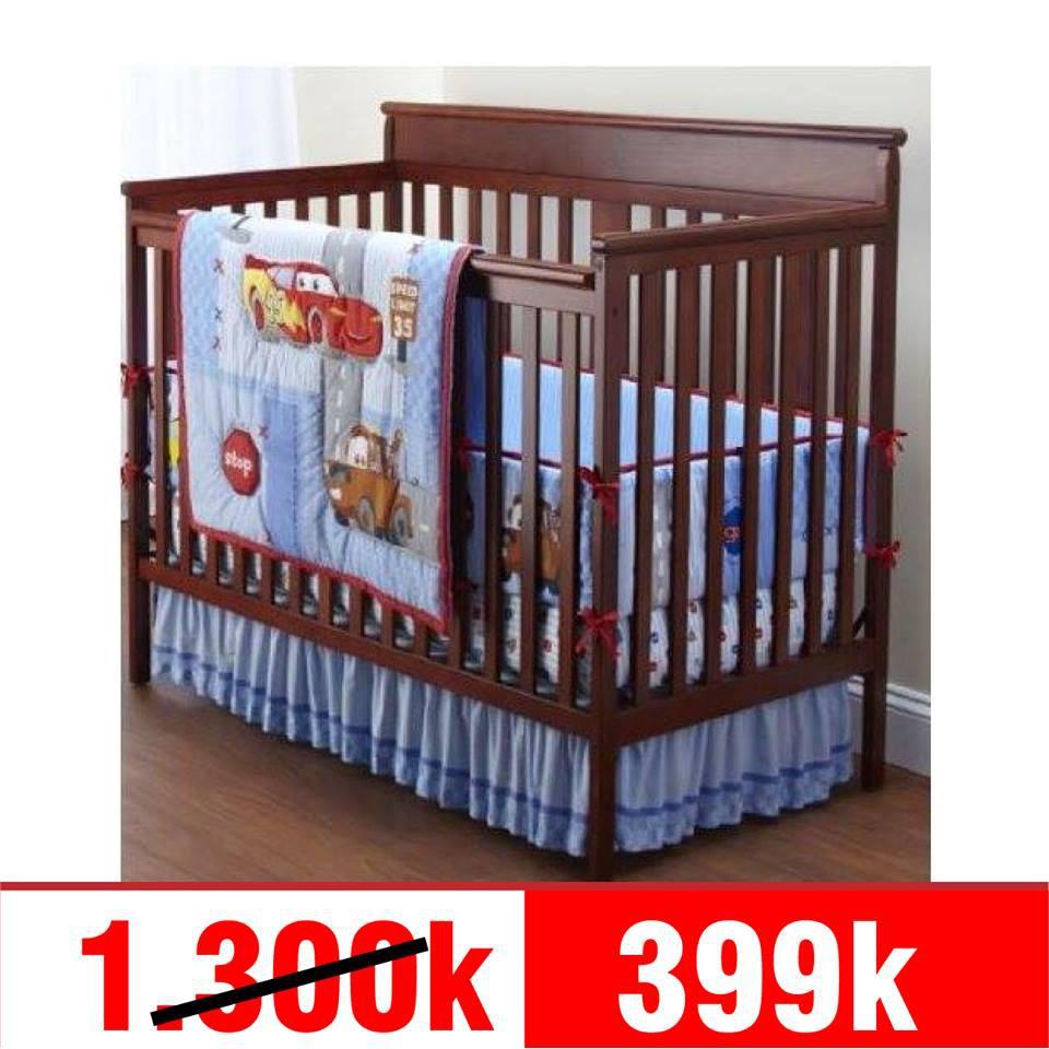 Ninikids: Bộ 3pcs Disney Baby cotton gồm :chăn - quây cũi dài 4m - ga chun bọc đệm.