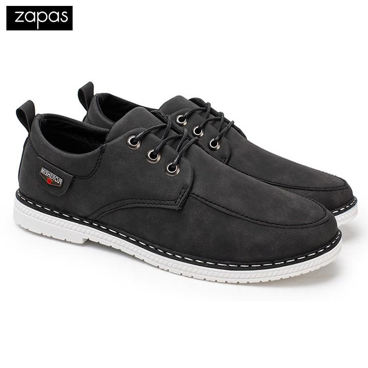 Giày Sneaker Da Thời Trang Nam Zapas – GS034 (Đen)