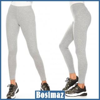 Quần Legging Nữ Bosimaz MS015 dài không túi màu xám nhạt cao cấp, thun co giãn 4 chiều, vải đẹp dày, thoáng mát. thumbnail
