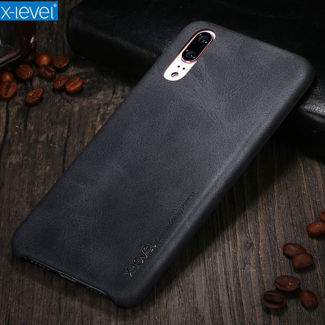 X-Level Cases for Huawei P20 Cover Case Luxury PU Leather Back cover retro case