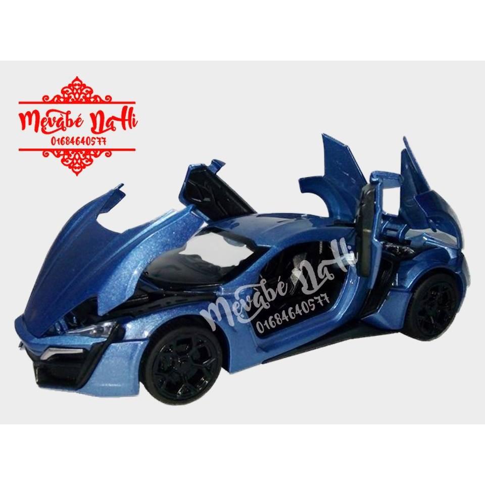 Xe Sắt Siêu Xe Lykan Huper Fast Furious 3201: Đèn, nhạc (Xanh)