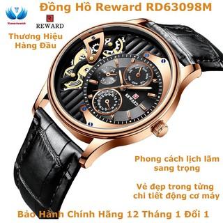 Đồng Hồ Nam Dây Da - Khung Kim Loại Mặt Kính Chống Xước Reward RD63098M - Bảo Hành 12 Tháng