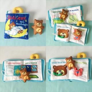 Sách vải kỹ năng một ngày của gấu Lullababy