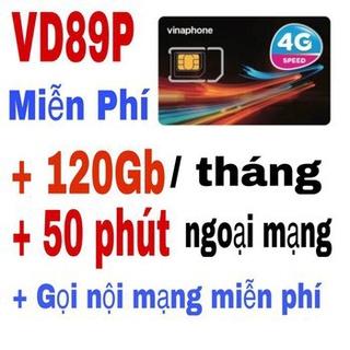[XẢ LÔ VINA] SIM 4G VINA VD89P (VD89 PLUS) FREE 12THÁNG TẶNG 120GB (4GB/NGÀY), MIỄN PHÍ GỌI, VÀO MẠNG 12T K CẦN NẠP TIỀN