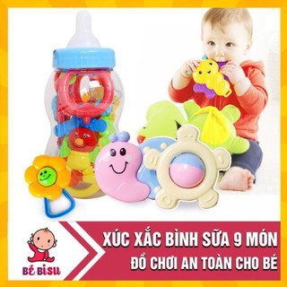 Bộ đồ chơi xúc xắc bình sữa 9 món phát tiếng cho bé