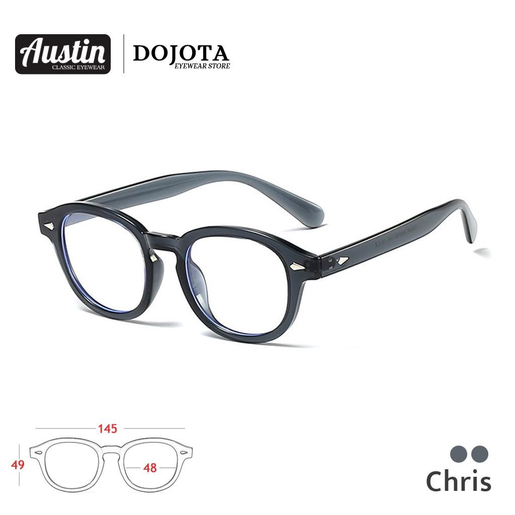 แว่นตาวินเทจ รุ่น Chris ►เลนส์กรองแสง ►กรอบแว่น สีเทา, สีดำ, สีกระ