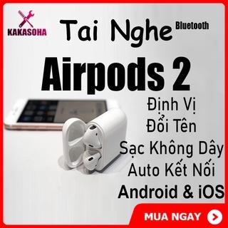 [FREESHIP] Tai Nghe Bluetooth Cao Cấp Airpods 2 Định Vị, Đổi Tên – Dùng Cho Tất Cả Smartphone
