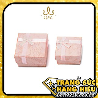 [Mã SKAMCLU7 giảm 10% cho đơn từ 0Đ] Hộp Nơ hồng QMJ Giấy vân đẹp thumbnail