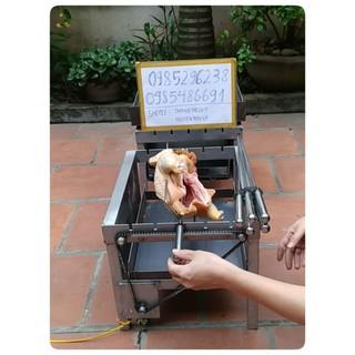 Máy nướng thịt chả mini tự động 5 xiên – Bếp nướng than, tặng kèm 5 xiên đơn và 1 xiên 3 inox