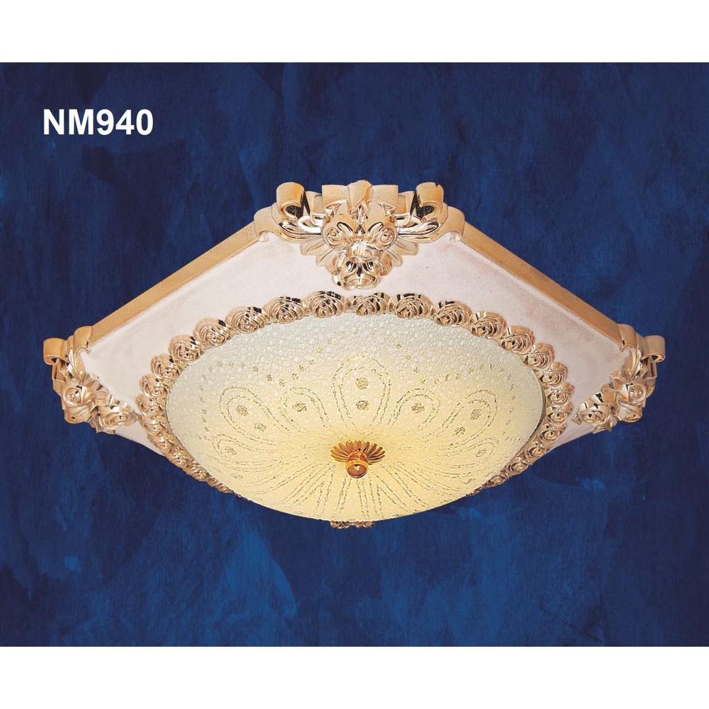 Đèn Mâm Ốp Trần Netviet NM941 12W 3 chế độ màu