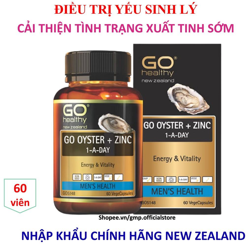 [XUẤT TINH SỚM] Tinh chất hàu GO OYSTER + ZINC tăng cường sinh lý cải thiện tình trạng xuất tinh sớm rối loạn cương dương sản phẩm nhập khẩu chính hãng New Zealand