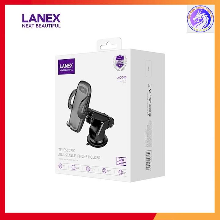GIÁ ĐỠ ĐIỆN THOẠI TRÊN XE HƠI NHỰA PC LANEX LHO-C05