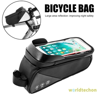 Reflective Bicycle Touchscreen Phone Bags Mountain MTB Bike Top Tube Pouch