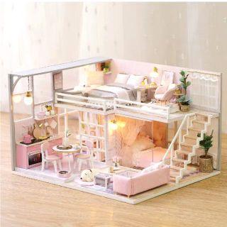 Kèm Mica và keo dán – Mô hình nhà gỗ búp bê Dollhouse DIY – L025 Girlish Dream