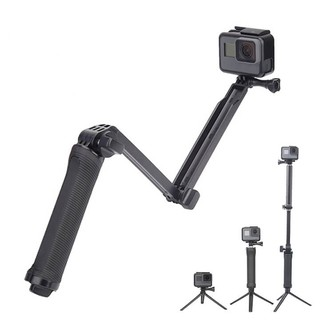 GẬY 3 KHÚC GOPRO VÀ ACTION CAM TELESIN V2 ( THREE WAY )