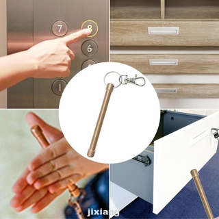 Practical Brass Portable Disinfecting Touch Free Press Elevator EDC Handle Safety Keychain Door Opener