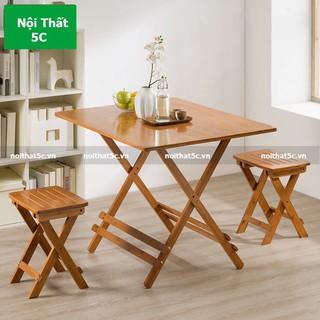 [HOT] Bàn Đa Năng Gấp Gọn Gỗ Tre Square-Table