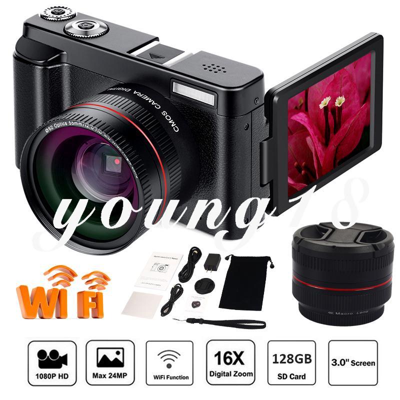 Y18 16X ZOOM 13MP Digital Camera Video Camcorder Camcorder 16X ZOOM 13MP Ultra HD Digital Camera 3.0'' LCD Home