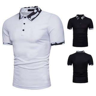 Men's Camouflage collar fashion men's short sleeve POLOQ62