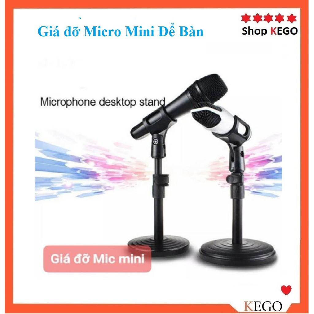 Chân giá đỡ kẹp Micro Mini [Có mã FreeShip]  Để Bàn phụ vụ livestream, hội họp..vv