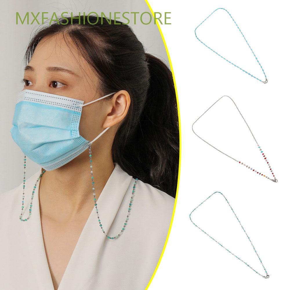MXFASHIONESTORE Fashion|Glasses Chains Men Eyeglasses Lanyard Neck Strap Chain Women Anti-lost Beaded Anti-slip Metal Rope Girls Mask Chain