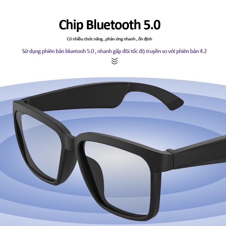 Kính mắt Bluetooth thông minh vừa nghe nhạc và gọi điện , chống tia UV , chống trầy xước ,...