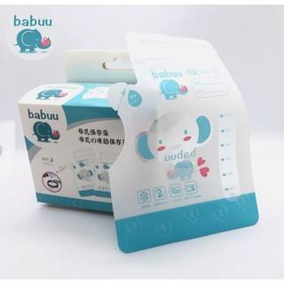 Túi trữ sữa Babuu hộp 50 túi 250ml loại có vòi