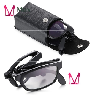 💋MAX Diopter +1.0~4.0 Presbyopic Glasses Portable Compact Reading Glasses Folding Reading Glasses Vision Care Anti Blue Light Unisex with Glasses Case Eyewear TR90 Reading Glasses/Multicolor