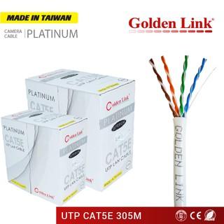CÁP MẠNG GOLDEN LINK PLATINUM UTP CAT 5E TRẮNG 305 mét GL01001 thumbnail