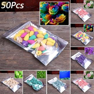 50pcs Natural Smoke Scent Tower Cones Hollowed Back-Flow Home Office Living Room Decors Accessories Incense Burners