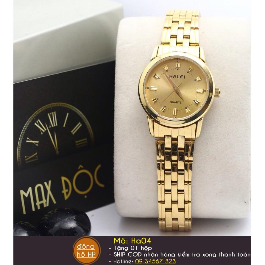 Đồng hồ nữ Halei dây vàng