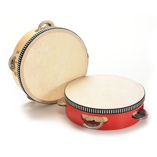 1 X Kids Musical Tambourine Wooden Drum Rattles for Baby Education Toy 2 Colors