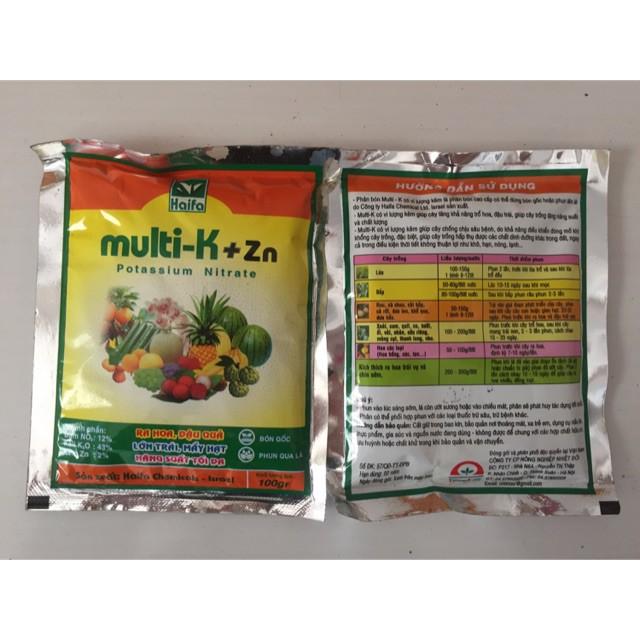 Phân bón Multi-K +Zn vi lượng kẽm tăng năng suất tối đa.