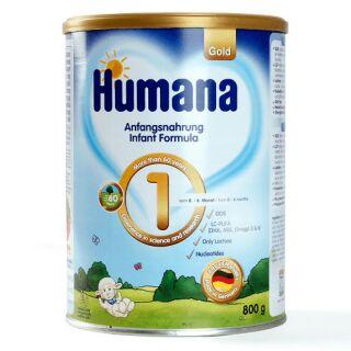 Sữa bột Humana Gold số 1, Lon 800g