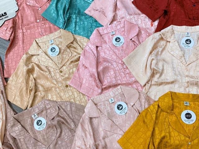 [Mã WASEPRN hoàn 20% xu đơn 99k] Bộ đồ Pijama lụa💖 Bộ lụa gấm tay ngắn-quần dài cao cấp [HÀNG ĐẸP CHUẨN]