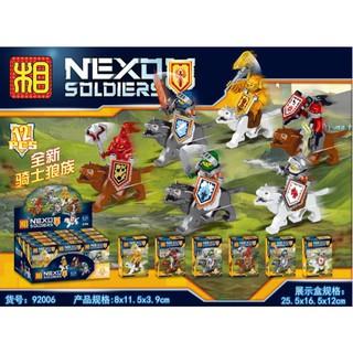 Đồ chơi lắp ráp lego nexo knights lính sói trung cổ lele 92006 trọn bộ 6 hộp.