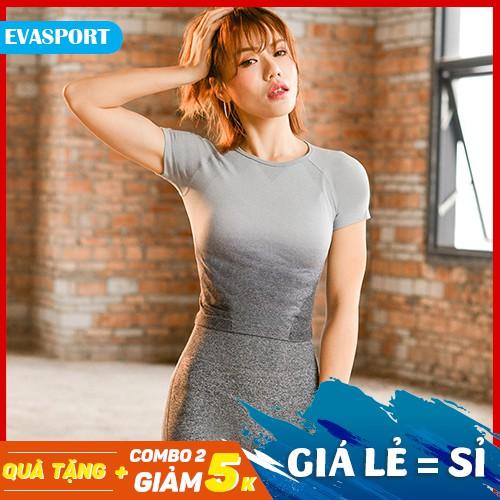 Áo Thun thể thao GS nữ cao cấp tập gym yoga phong cách hàn quốc-EvaSport_vn