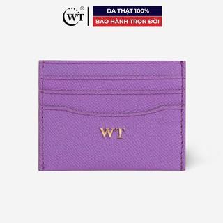 Ví Đựng Thẻ Da Bò Cao Cấp Màu Tím, Màu Hồng WT Leather 020060908, 020060980 thumbnail