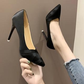 Giày cao gót mũi nhọn phong cách trẻ trung thanh lịch dành cho nữ