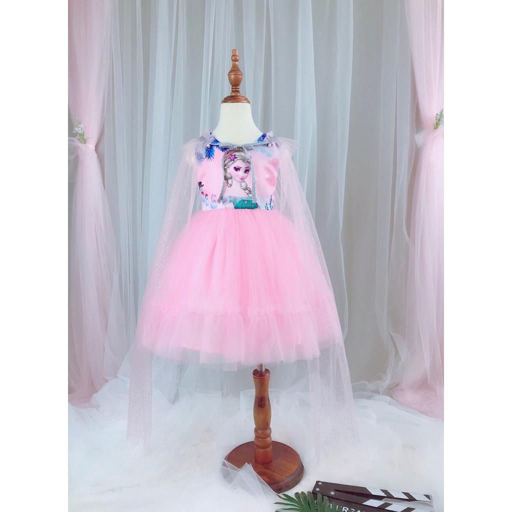 Váy công chúa Elsa tà choàng xinh mã số 1908191