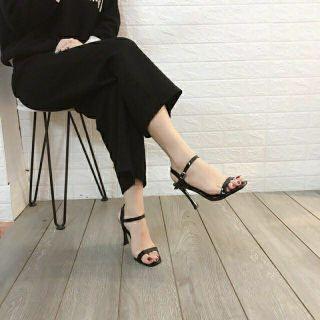 [Mã FASHIONRNK giảm 10k đơn từ 50k] Giày Sandal cao gót 9p quai mảnh gót dẹt siêu đẹp hàng VNXK thumbnail
