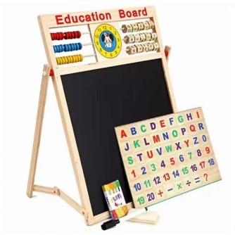 Bảng 2 mặt kèm bộ chữ số bằng gỗ gắn nam châm - 3370356 , 540306688 , 322_540306688 , 120000 , Bang-2-mat-kem-bo-chu-so-bang-go-gan-nam-cham-322_540306688 , shopee.vn , Bảng 2 mặt kèm bộ chữ số bằng gỗ gắn nam châm